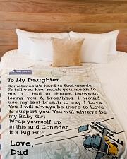 """Lineman's Daughter  Premium Large Fleece Blanket - 60"""" x 80"""" aos-coral-fleece-blanket-60x80-lifestyle-front-02"""