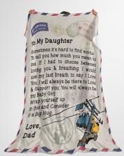 """Lineman's Daughter  Premium Large Fleece Blanket - 60"""" x 80"""" aos-coral-fleece-blanket-60x80-lifestyle-front-10"""