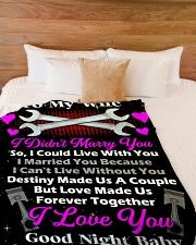 """Mechanic's Wife  Premium Large Fleece Blanket - 60"""" x 80"""" aos-coral-fleece-blanket-60x80-lifestyle-front-02"""