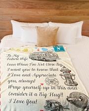 "Firefighter's Future Wife Premium Large Fleece Blanket - 60"" x 80"" aos-coral-fleece-blanket-60x80-lifestyle-front-02"