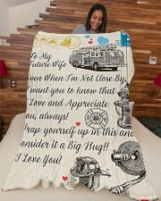 "Firefighter's Future Wife Premium Large Fleece Blanket - 60"" x 80"" aos-coral-fleece-blanket-60x80-lifestyle-front-04"