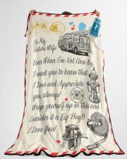 "Firefighter's Future Wife Premium Large Fleece Blanket - 60"" x 80"" aos-coral-fleece-blanket-60x80-lifestyle-front-10"