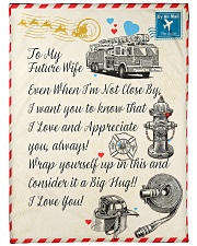 "Firefighter's Future Wife Premium Large Fleece Blanket - 60"" x 80"" front"