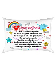 GIFT FOR YOUR GIRLFRIEND - PREMIUM Rectangular Pillowcase back