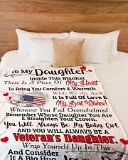 """Veteran's Daughter  Premium Large Fleece Blanket - 60"""" x 80"""" aos-coral-fleece-blanket-60x80-lifestyle-front-02"""