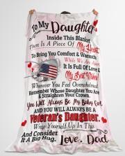 """Veteran's Daughter  Premium Large Fleece Blanket - 60"""" x 80"""" aos-coral-fleece-blanket-60x80-lifestyle-front-10"""