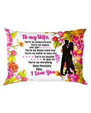 GIFT FOR A WIFE - PREMIUM Rectangular Pillowcase back