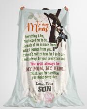 "Lineman's Mom - Black Friday Sale Large Fleece Blanket - 60"" x 80"" aos-coral-fleece-blanket-60x80-lifestyle-front-10"