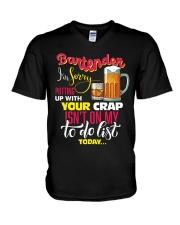 Bartender V-Neck T-Shirt tile