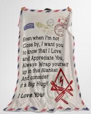 "Electrician's Wife  Premium Large Fleece Blanket - 60"" x 80"" aos-coral-fleece-blanket-60x80-lifestyle-front-10"