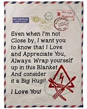 """Electrician's Wife  Premium Large Fleece Blanket - 60"""" x 80"""" front"""