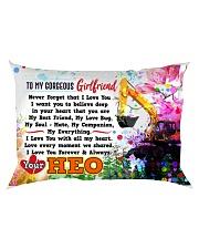 GIFT FOR A HEO'S GIRLFRIEND - PREMIUM Rectangular Pillowcase back
