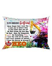 GIFT FOR A HEO'S GIRLFRIEND - PREMIUM Rectangular Pillowcase front