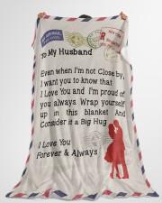 "Gift For Husband Premium Large Fleece Blanket - 60"" x 80"" aos-coral-fleece-blanket-60x80-lifestyle-front-10"
