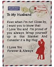 "Gift For Husband Premium Large Fleece Blanket - 60"" x 80"" front"