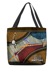 KNITTER All-over Tote back