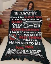 """Mechanic's Wife  Premium Large Fleece Blanket - 60"""" x 80"""" aos-coral-fleece-blanket-60x80-lifestyle-front-04"""