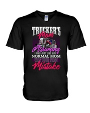 TRUCKER'S MOM V-Neck T-Shirt thumbnail