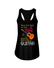 Female Guitarist Ladies Flowy Tank thumbnail