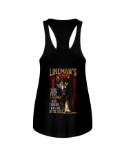 LINEMAN'S WIFE - I'M THE WOLF   Ladies Flowy Tank tile