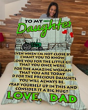 "Farmer's Daughter  Premium Large Fleece Blanket - 60"" x 80"" aos-coral-fleece-blanket-60x80-lifestyle-front-04"