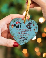 Lineman's Wife - Heart ornament - single (porcelain) aos-heart-ornament-single-porcelain-lifestyles-08