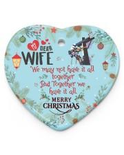 Lineman's Wife - Heart ornament - single (porcelain) front