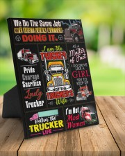 Lady Trucker 8x10 Easel-Back Gallery Wrapped Canvas aos-easel-back-canvas-pgw-8x10-lifestyle-front-02