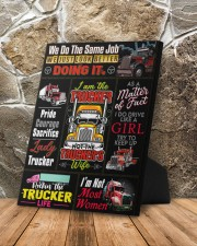 Lady Trucker 8x10 Easel-Back Gallery Wrapped Canvas aos-easel-back-canvas-pgw-8x10-lifestyle-front-10