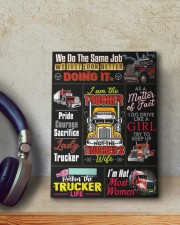 Lady Trucker 8x10 Easel-Back Gallery Wrapped Canvas aos-easel-back-canvas-pgw-8x10-lifestyle-front-12