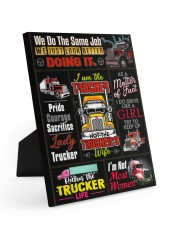 Lady Trucker 8x10 Easel-Back Gallery Wrapped Canvas front