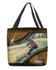 SKIER'S GIRL All-over Tote front