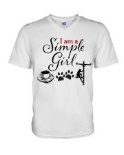 LINEMAN'S GIRL V-Neck T-Shirt thumbnail