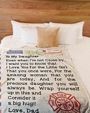 "Firefighter's Daughter  Premium Large Fleece Blanket - 60"" x 80"" aos-coral-fleece-blanket-60x80-lifestyle-front-02"