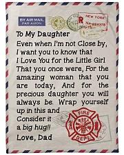 """Firefighter's Daughter  Premium Large Fleece Blanket - 60"""" x 80"""" front"""