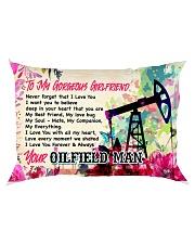 GIFT FOR AN OILFIELD MAN'S GIRLFRIEND - PREMIUM Rectangular Pillowcase back