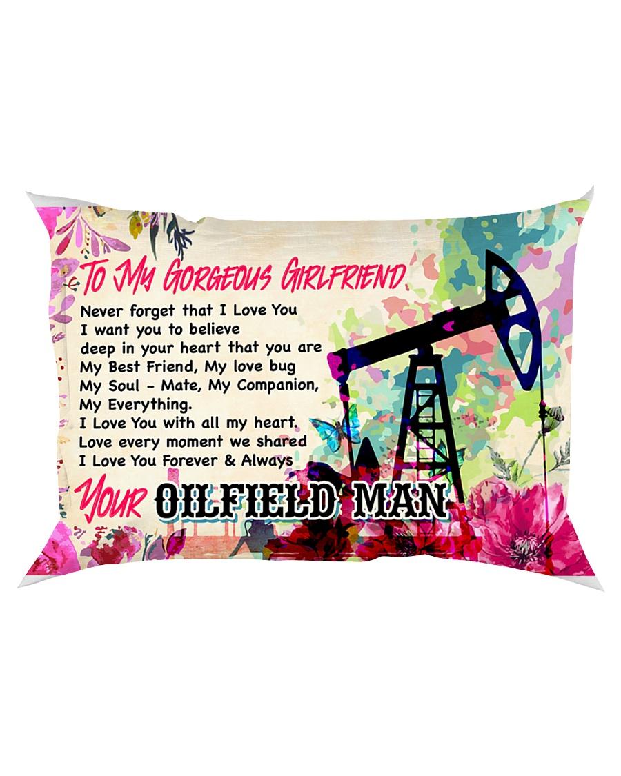GIFT FOR AN OILFIELD MAN'S GIRLFRIEND - PREMIUM Rectangular Pillowcase