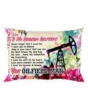 GIFT FOR AN OILFIELD MAN'S GIRLFRIEND - PREMIUM Rectangular Pillowcase front
