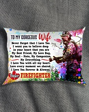 GIFT FOR A FIREFIGHTER'S WIFE - PREMIUM Rectangular Pillowcase aos-pillow-rectangle-front-lifestyle-1