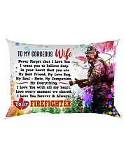 GIFT FOR A FIREFIGHTER'S WIFE - PREMIUM Rectangular Pillowcase back