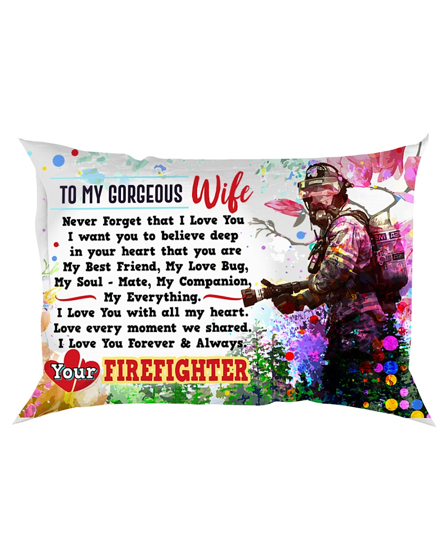GIFT FOR A FIREFIGHTER'S WIFE - PREMIUM Rectangular Pillowcase