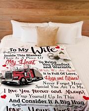 "Trucker's Wife Large Fleece Blanket - 60"" x 80"" aos-coral-fleece-blanket-60x80-lifestyle-front-02"