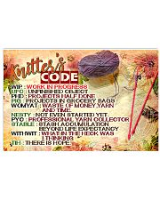 KNITTER'S CODE - PREMIUM 17x11 Poster front