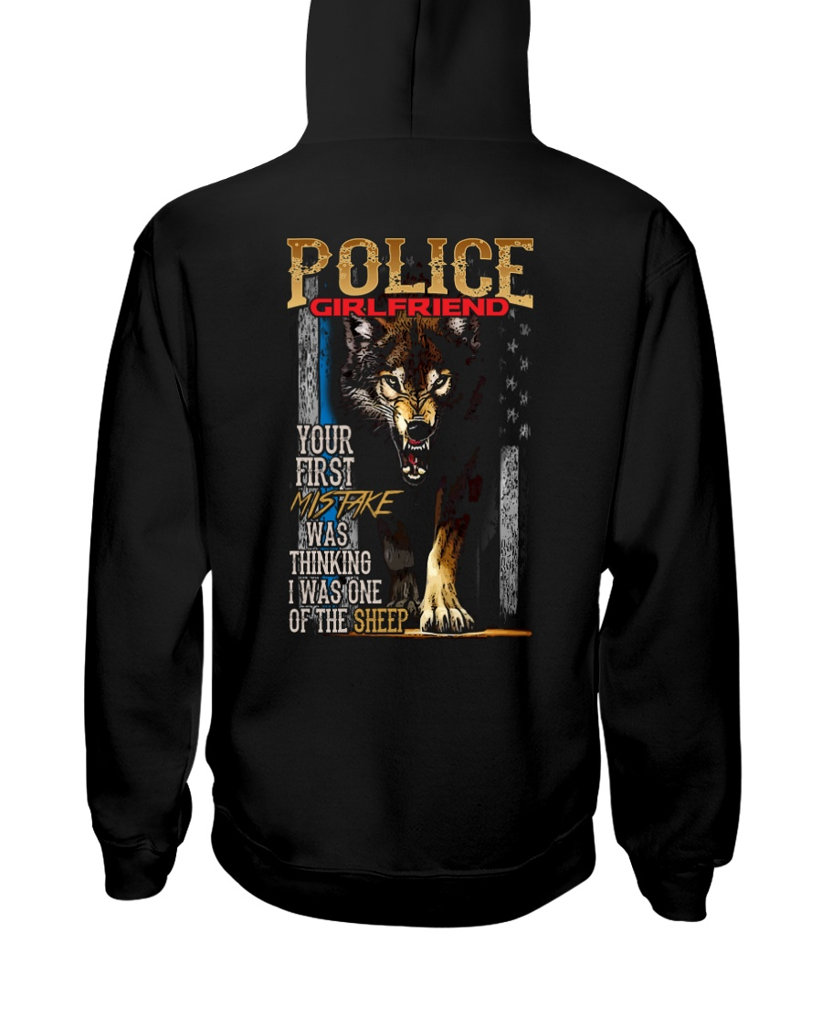 POLICE OFFICER'S   GIRLFRIEND - I'M THE WOLF   Hooded Sweatshirt