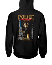POLICE OFFICER'S   GIRLFRIEND - I'M THE WOLF   Hooded Sweatshirt back