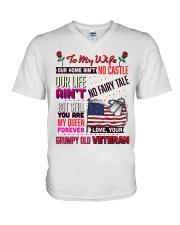 Veteran's Wife V-Neck T-Shirt tile