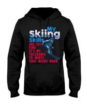SKIING Hooded Sweatshirt front
