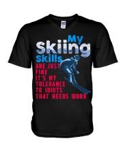 SKIING V-Neck T-Shirt thumbnail