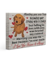 DACHSHUND LOVER - Premium 14x11 Gallery Wrapped Canvas Prints front