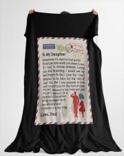 """Veteran's Daughter Large Fleece Blanket - 60"""" x 80"""" aos-coral-fleece-blanket-60x80-lifestyle-front-10"""